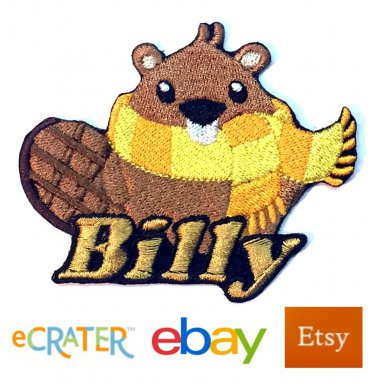 Custom Personalized Iron-on Patch - Beaver