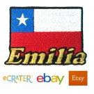Custom Personalized Iron-on Patch - Chile Flag