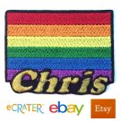 Custom Personalized Iron-on Patch - Gay Pride Flag