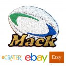 Custom Personalized Iron-on Patch - Rugby