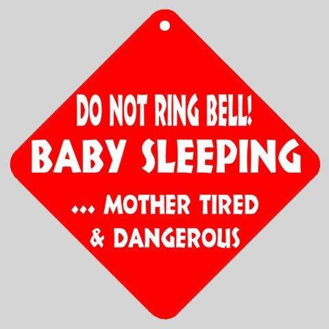 Baby sleeping sign front door