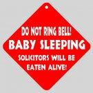 Funny Sleeping Baby Home Door Window Signs 15871407