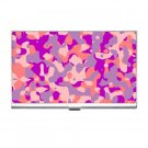 Pink Camoflage Business Card Holder Case Office Gift 17055940