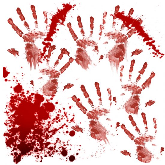 BLOODY HANDPRINTS Bathroom Shower Curtain