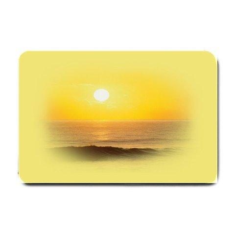 Yellow Sunset BEACH DESIGN Bathmat , Doormat, Mats #BSEC-CT