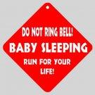 Sleeping Baby Funny Home Door Window Signs 15871409