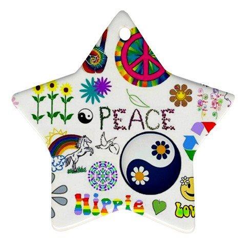 Retro Design Porcelain Star Christmas Tree Ornament 16972292 BSEC