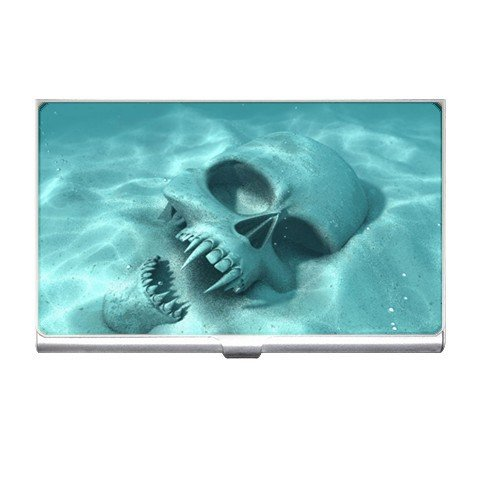 Underwater SKULL Business Card Holder Case Office Gift 17138361