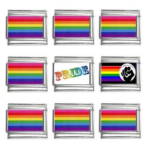 Gay Pride Italian Charms Bracelet Set of 9 pack 9mm 14660288