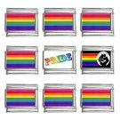 Gay Pride Italian Charms Bracelet Set of 9 pack 9mm 14660288