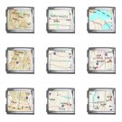 TRAVEL Map Souvenir Italian Charms Starter Bracelet Set of 9 pack MEGA Size 18mm 23655896