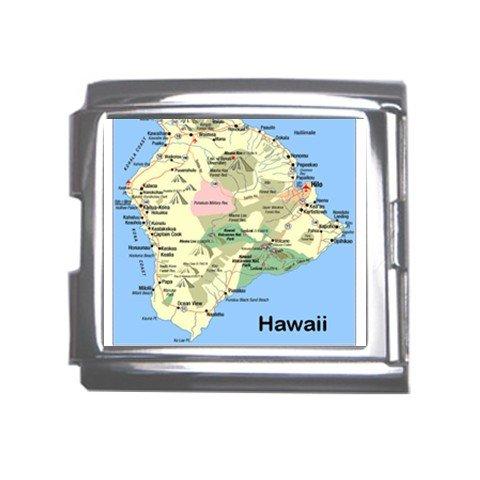 HAWAII Map Souvenir Italian Charm  Bracelet Single MEGA Charm Size 18mm 23655372