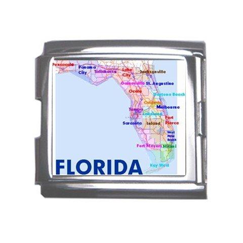 FLORIDA Map Souvenir Italian Charm Bracelet Single MEGA Charm Size 18mm 23655375
