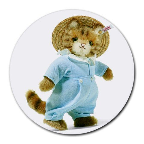 TEDDY BEAR IN PAJAMAS Round Mousepad Office 15771839