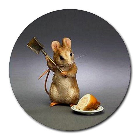 MOUSE AND CHEESE Round Mousepad Office 15771841