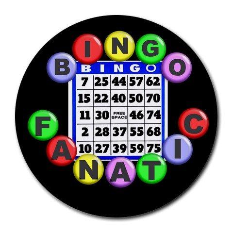 BINGO FANATIC Round Mousepad Office 25088552