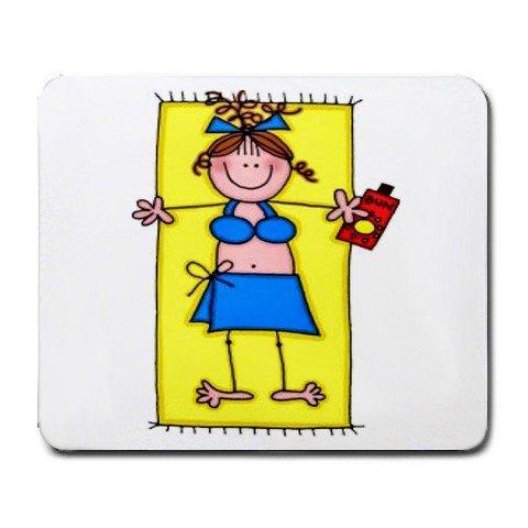 BEACH GIRL CARTOON Mousepad Office Large 25088559
