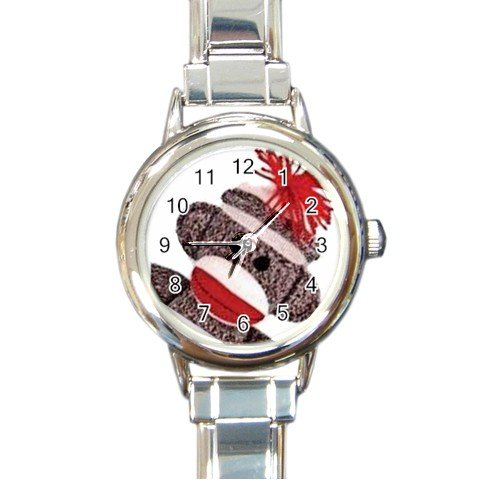 SOCK MONKEY Round Italian Charm Photo Watch 25916318 BSEC