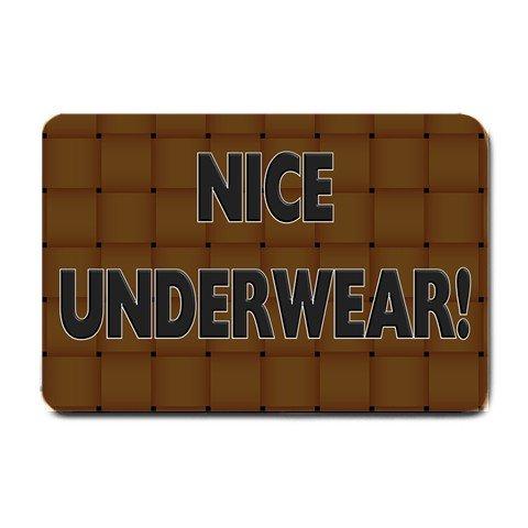 Funny Humorous Doormat, Mats Indoor Outdoor rugs NICE UNDERWEAR #BSEC-CT