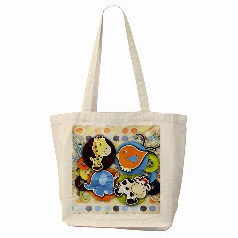 COLORFUL ART Large Canvas Tote Bag 18 x 14 inches Handbag 27028743