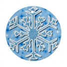 CHRISTMAS SNOWFLAKE Ornament Porcelain Round Shape Christmas Tree 27174985 BSEC