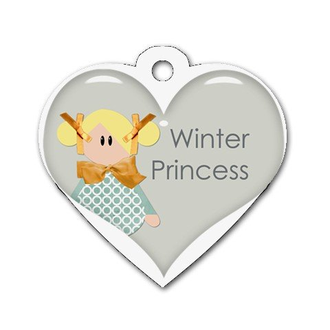 BLOND WINTER PRINCESS Heart Shape Necklace Dog tag jewelry 27354536 BSEC