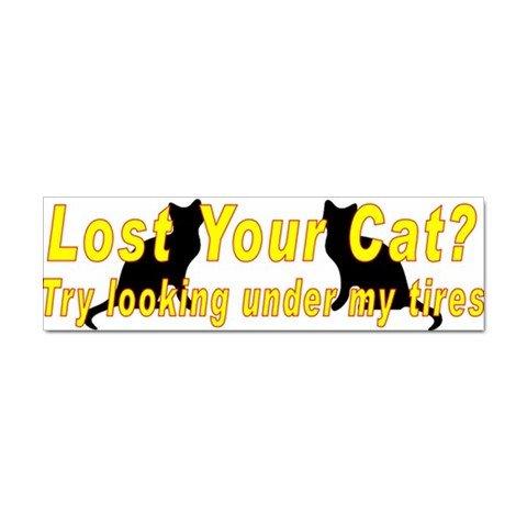 100 FUNNY LOST CAT Car Bumper Stickers - 100 Bumper Sticker Pack WHOLESALE 27719159