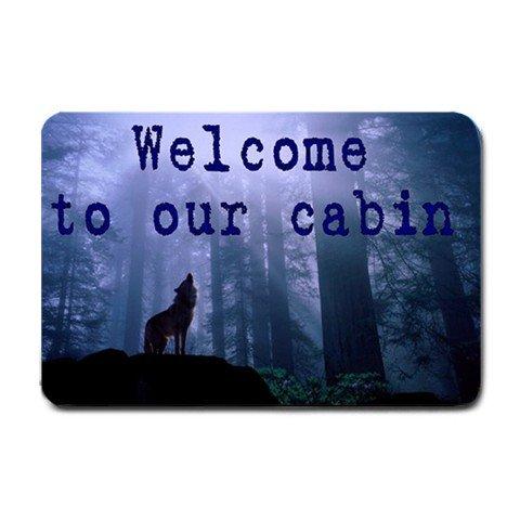 Welcome to our Cabin Indoor Outdoor Doormat Mats door mat #BSEC-CT