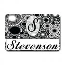 Custom Monogram Doormat, Mats Indoor Outdoor rugs Classic black and white #BSEC-CT