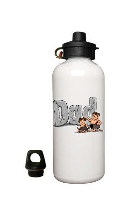 Dads Cavemen Fathers Day White Aluminum Water Bottle Father's Day Birthday Christmas Gift BSEC-CT