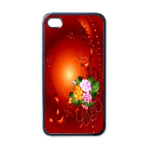 RED ROSES Apple iPhone 4 Case Cover #AN-28147696