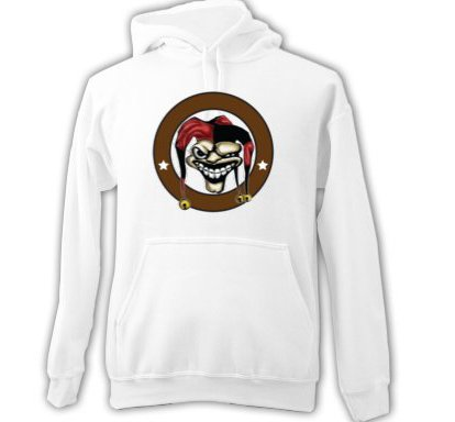Joker Adult HOODIE SWEATSHIRT  sz Small #CT