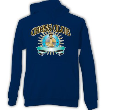 Chess Club Adult HOODIE SWEATSHIRT  sz Medium #CT