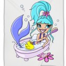 "Bathing MERMAID VELVETEEN PLUSH FLEECE BLANKET 50"" X 60"" Full or Twin #BSEC-CT"