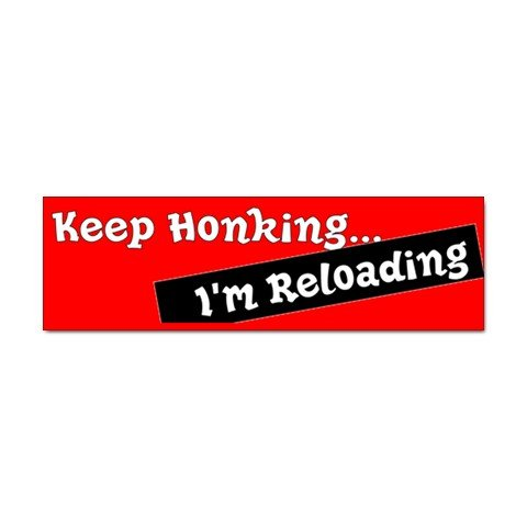 Funny Keep Honking Car Bumper Sticker - ONE Sticker 29016430
