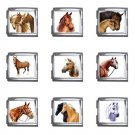 Horses Italian Charms Starter Bracelet Set of 9 pack MEGA Size 18mm 26865672