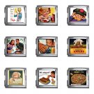 Retro Ads Italian Charms Starter Bracelet Set of 9 pack MEGA Size 18mm 26865679