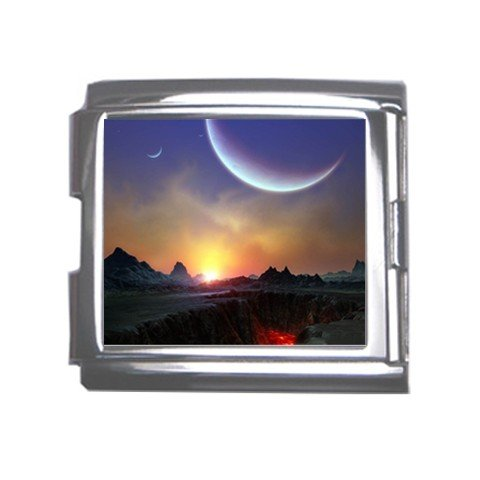 Landscape Moon Italian Charm Bracelet Single MEGA Charm Size 18mm 26846790