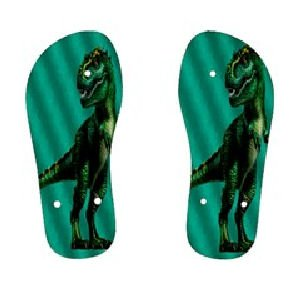 Green Dinosaur Childrens FLIP FLOPS Beach Sandals sz Kids 3 KL 30079217