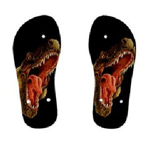 T-REX Dinosaur Childrens FLIP FLOPS Beach Sandals sz Kids 3 KL 30079219