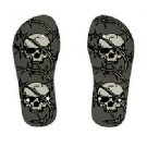 Pirate SKULLS Childrens FLIP FLOPS Beach Sandals sz Kids 3 KL 30079220