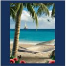 Relaxing Beach SCENE Bathroom Shower Curtain CT