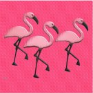 PINK FLAMINGOS Design Bathroom Shower Curtain CT