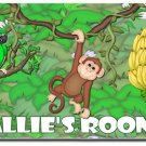 Jungle Monkey PERSONALIZED Mats door mat or rug for Bedroom #BSEC-CT