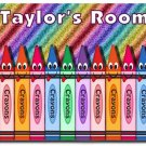 Colorful Crayon PERSONALIZED Mats door mat or rug for Bedroom #BSEC-CT