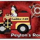 Fireman PERSONALIZED Mats door mat or rug for Bedroom #BSEC-CT