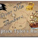 Pirate PERSONALIZED Mats door mat or rug for Bedroom #BSEC-CT
