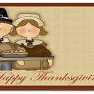 Thanksgiving Pilgrims Design Indoor Room Doormat Mats Rug for Kitchen or Bath