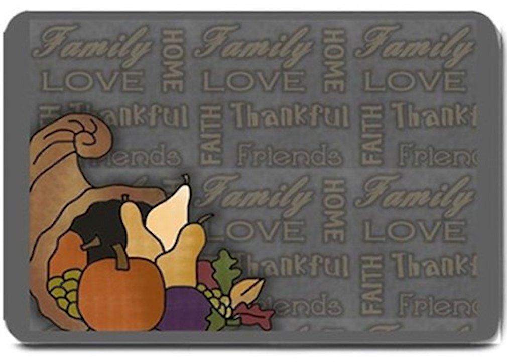 Thanksgiving Cornucopia Design Indoor Room Doormat Mats Rug for Kitchen