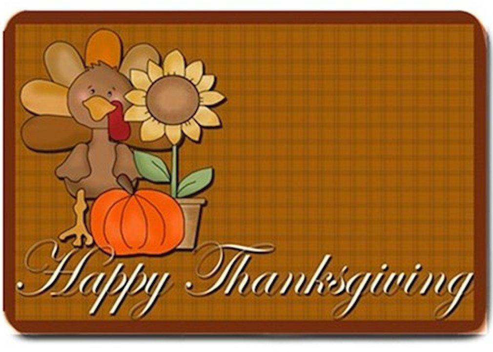 Thanksgiving Turkey Design Indoor Room Doormat Mats Rug for Kitchen